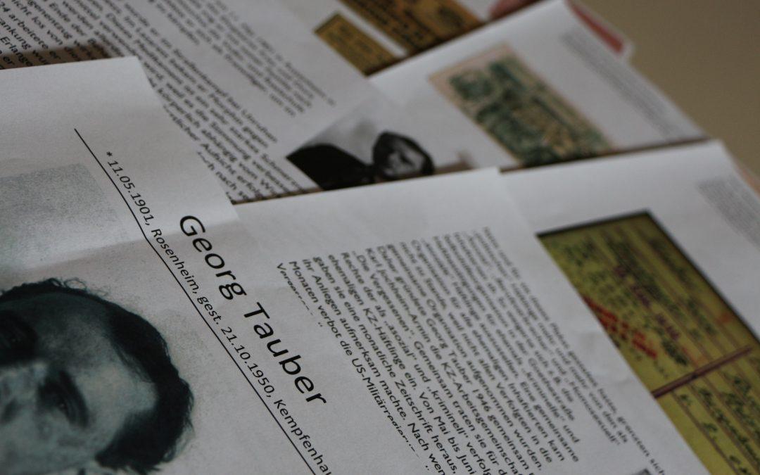 Häftlingen ein Gesicht geben – Max Kellner und Georg Tauber